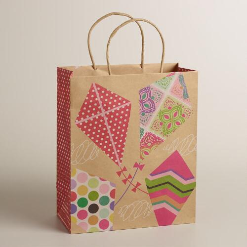 Large Kites Kraft Gift Bag
