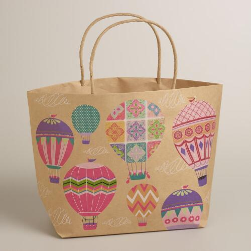 Hot Air Balloons Market Kraft Gift Bag
