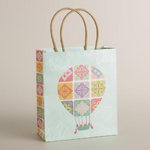 Small Lace Hot Air Balloon Kraft Gift Bag
