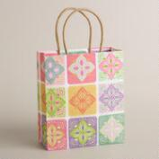 Small Multicolor Lace Kraft Gift Bag