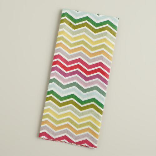 Multicolor Chevron Tissue Paper, 4-Count