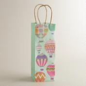 Hot Air Balloons Kraft Wine Bag