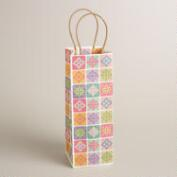 Multicolor Lace Kraft Wine Bag