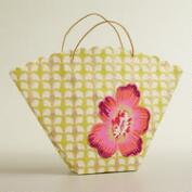Large Pink Die-Cut Flower Handmade Fan Gift Bag