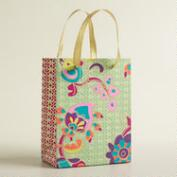 Small Retro Floral Handmade Gift Bag