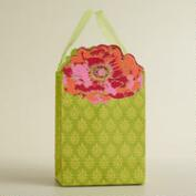 Small Green Die-Cut Flower Handmade Gift Bag