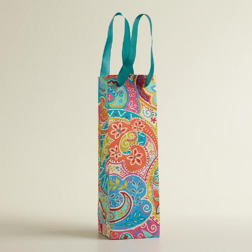 Multicolor Paisley Handmade Wine Bag
