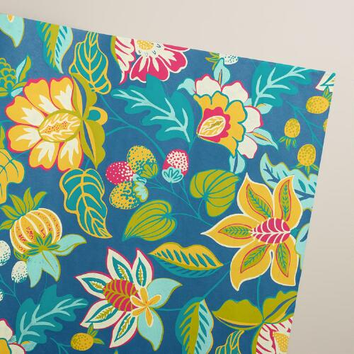Blue Henry Floral Handmade Gift Wrap