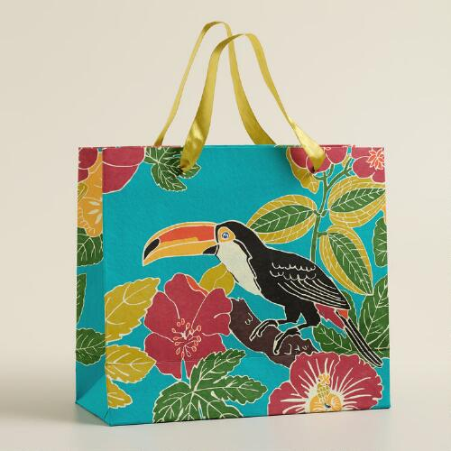 Extra-Large Toucan Handmade Gift Bag