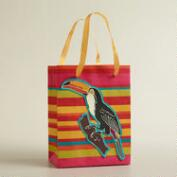 Small Striped Tip-On Toucan Handmade Gift Bag