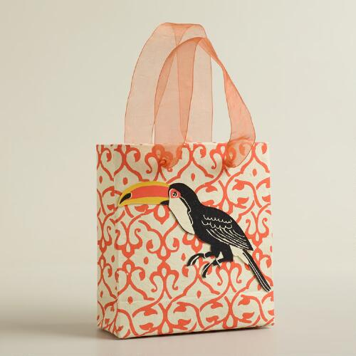 Mini Tip-On Toucan Handmade Gift Bag