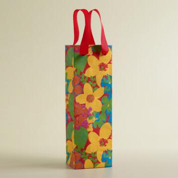 Gauguin Floral Handmade Wine Bag