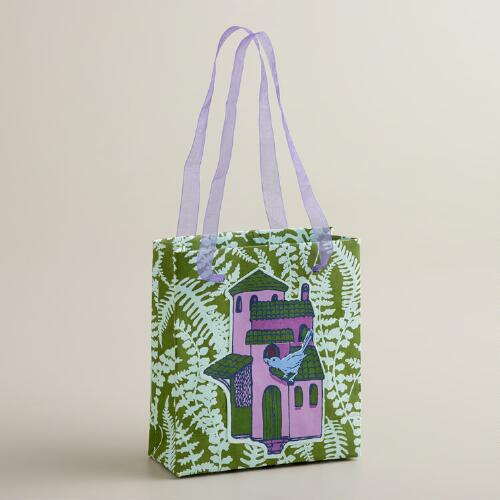 Mini Green Kelp Handmade Gift Bag