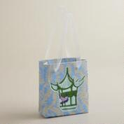 Mini Light Blue Kelp Handmade Gift Bag