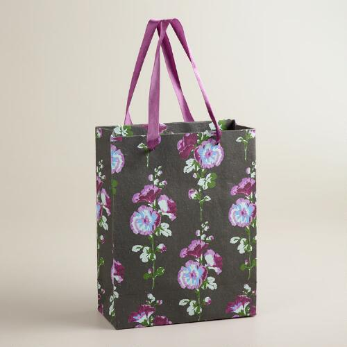 Large Hollyhock Handmade Gift Bag