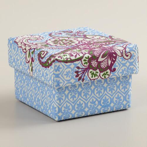 Small Square Esti Floral Handmade Jewelry Box