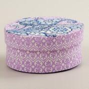 Small Oval Esti Floral Handmade Jewelry Box