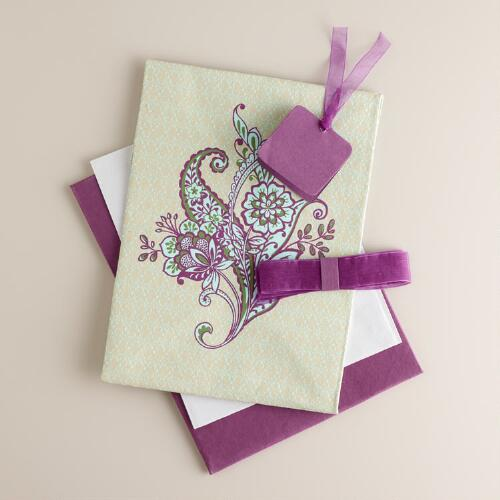 Green Esti Floral Fabric Gift Box Kit