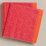 Fuchsia Geo Lunch Napkins, 20-Count