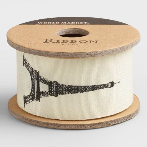 Paris Woven Grosgrain Ribbon