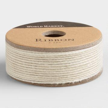 Cream Natural Woven Ribbon