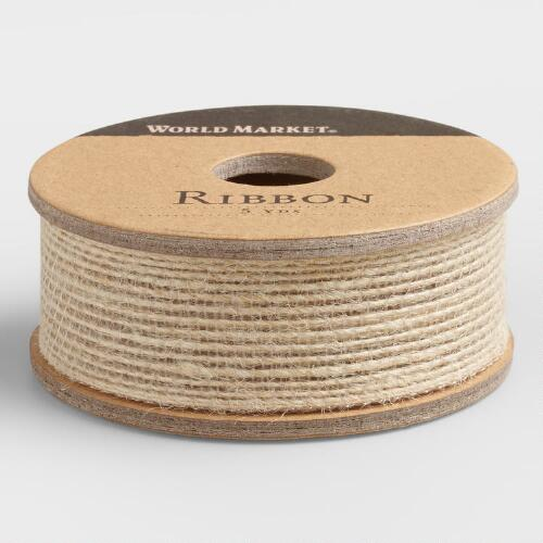 Brown Natural Woven Ribbon