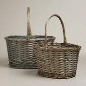 Gray Oval Rachel Baskets