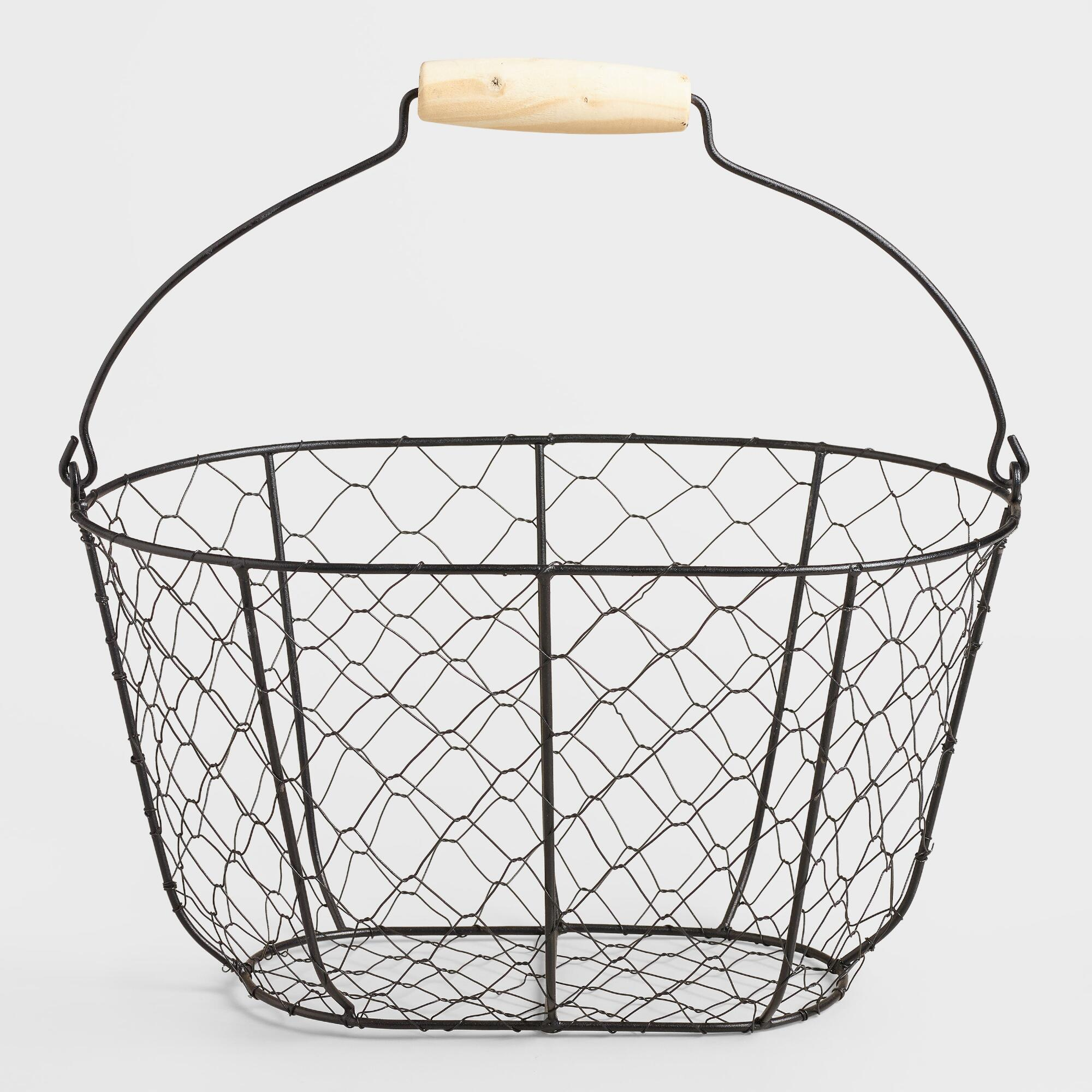 A chic solution to needing more space to store everyday necessities, the Gourmet Basics by Mikasa 3-Tier Wire Market Basket features 3 square baskets to hold food and more. The sturdy steel frame is designed for rigorous use, and can be cleaned easily.