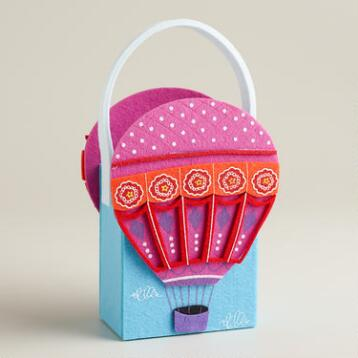Hot Air Balloon Felt Container