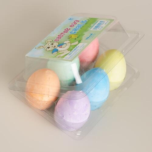 Easter Egg Sidewalk Chalk, Set of 6
