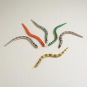 Wooden Snakes, Set of 6