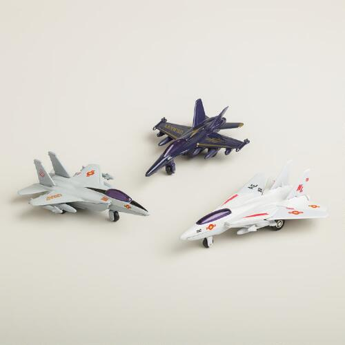 Die-Cast Jet Fighters, Set of 3
