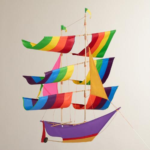Bright Balinese Boat Kite