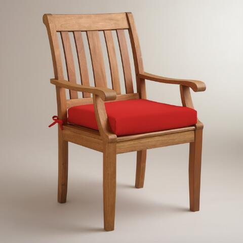 red outdoor chair cushion world market. Black Bedroom Furniture Sets. Home Design Ideas