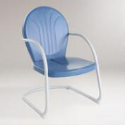 Blue Durresi Metal Chair