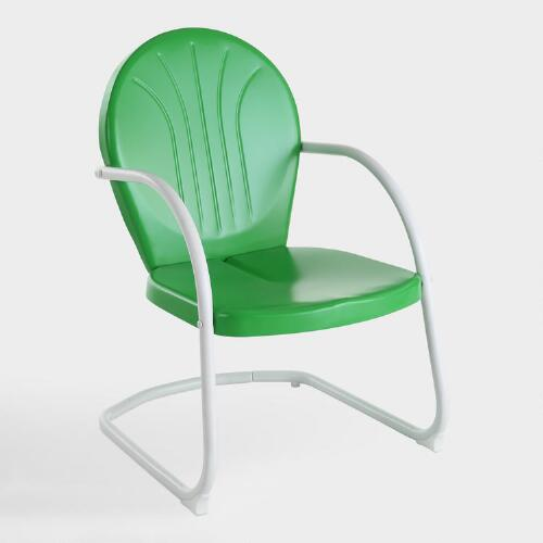 Green Durresi Metal Chair