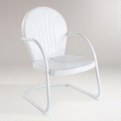 White Durresi Metal Chair