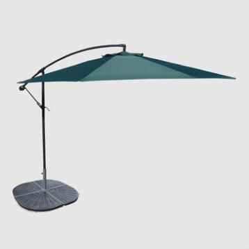 10' Green Cantilever Umbrella and Weight Base