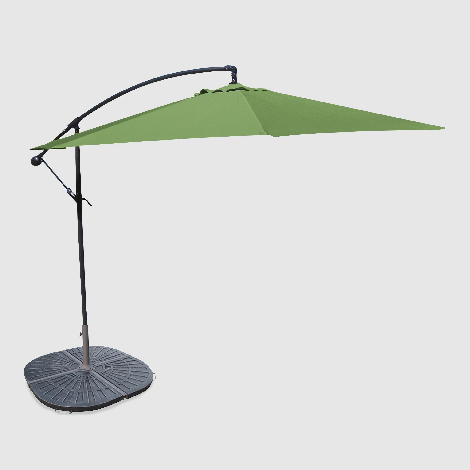 Umbrella Stand Next: 10' Olive Cantilever Umbrella And Weight Base