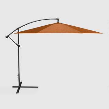 10' Orange Cantilever Umbrella
