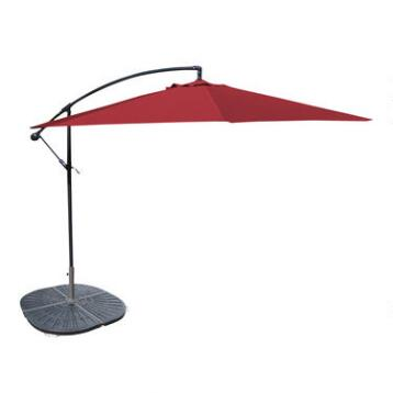 10' Red Cantilever Umbrella and Weight Base