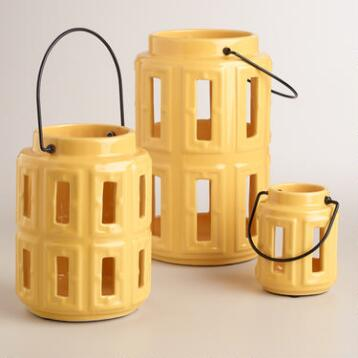 Yellow Lamai Ceramic Lanterns