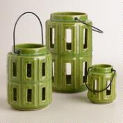 Green Lamai Ceramic Lanterns