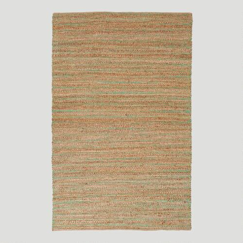 Green Jute and Cotton Rug