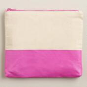 Purple Dipped Canvas Stationery Case