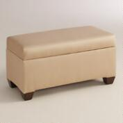 Micro Suede Pembroke Upholstered Storage Bench