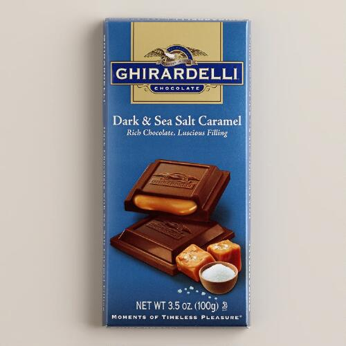Ghirardelli Dark Chocolate Bar with Sea Salt Caramel Filling