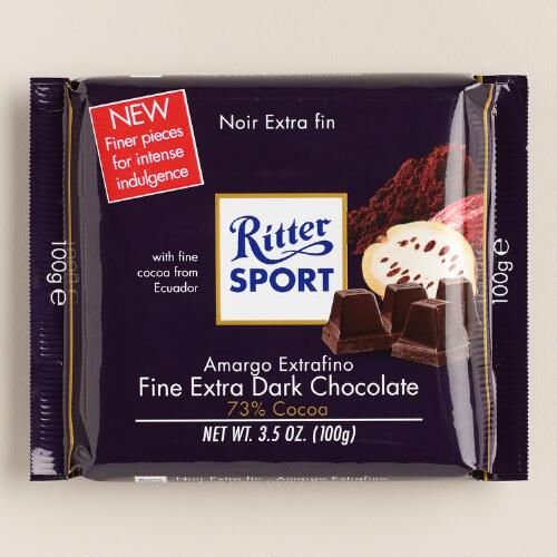 Ritter Sport Fine Extra Dark Chocolate Bar