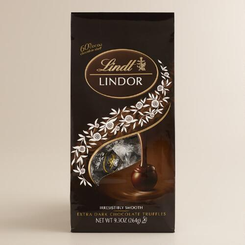 Lindt 60% Extra Dark Chocolate Truffles Bag