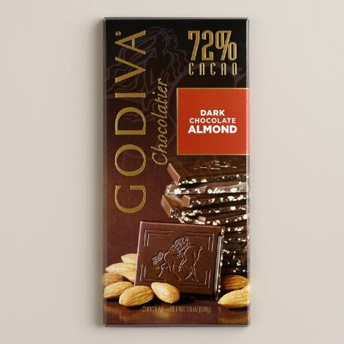 Godiva 72% Dark Chocolate Bar with Almonds